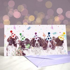 Springers On A Spree Greeting Card