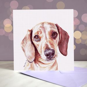 Dachshund Greeting Card – Blank Inside