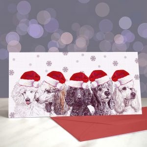 Just a Spoo Full of Sugar – Poodle Christmas Greeting Card