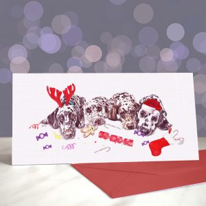 After the Dalliance – Dalmatians – Greeting Cards (Christmas)