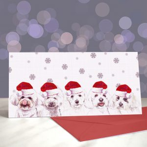 Move Bich, Get Out the Way – Bichon Frise Greeting Cards (Christmas)