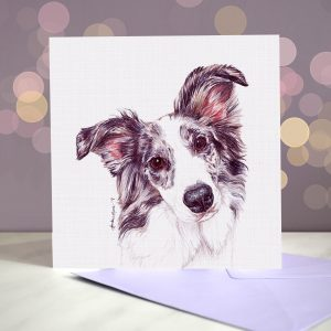 Border Collie (Blue Merle) Greeting Card