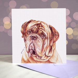 Dogue de Bordeaux – Greeting Card