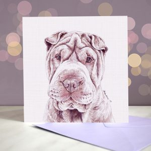 Shar Pei (Cream) Greeting Card