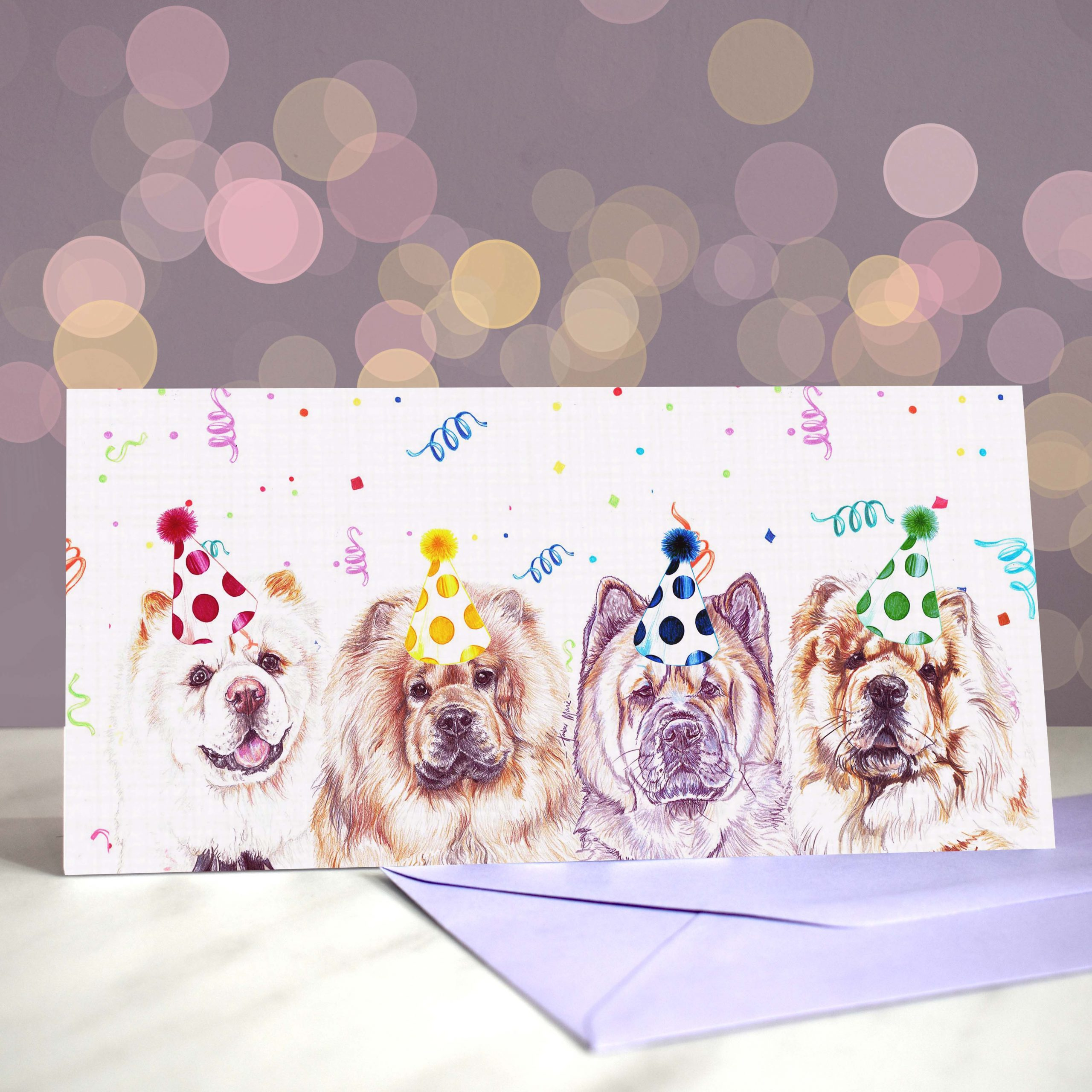 Bokeh Background DL chow chow slide