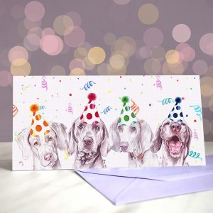 Weim After Weim Greeting Card