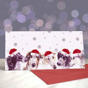 Borzoi Back in Town – Greeting Cards (Christmas)