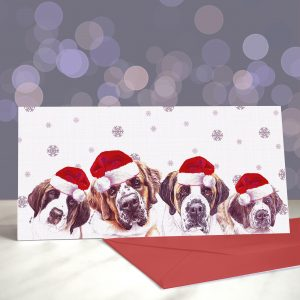 Oh When the Saints – St Bernard Greeting Cards (Christmas)