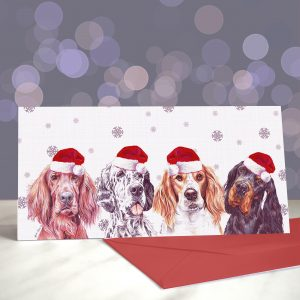 TrendSetters – Gordon, English, Irish Red and White – Greeting Cards (Christmas)