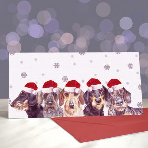 Wire You Dachshund Around – Greeting Cards (Christmas)