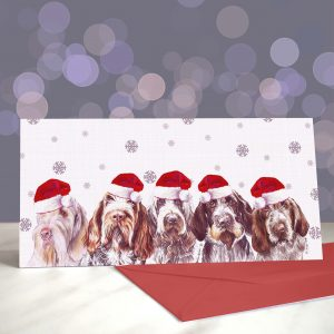 You Spin Me Right Round – Italian Spinone – Greeting Cards (Christmas)
