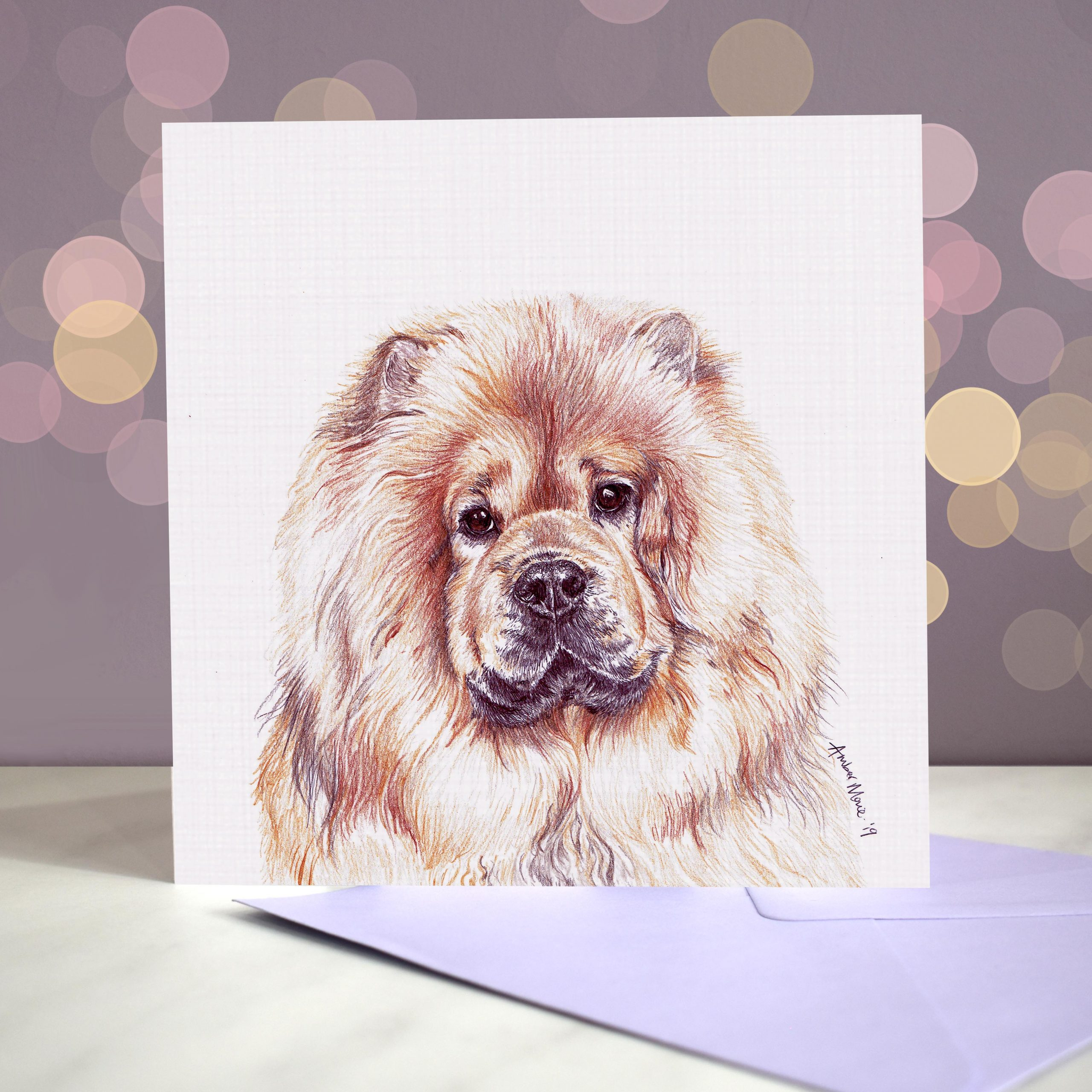 Bokeh Background 6×6 chow chow