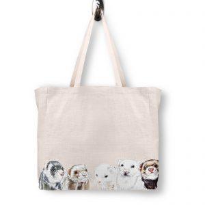 Ferret Ferocity Tote Bag