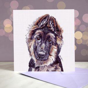 German Shepherd Dog – Greeting Card