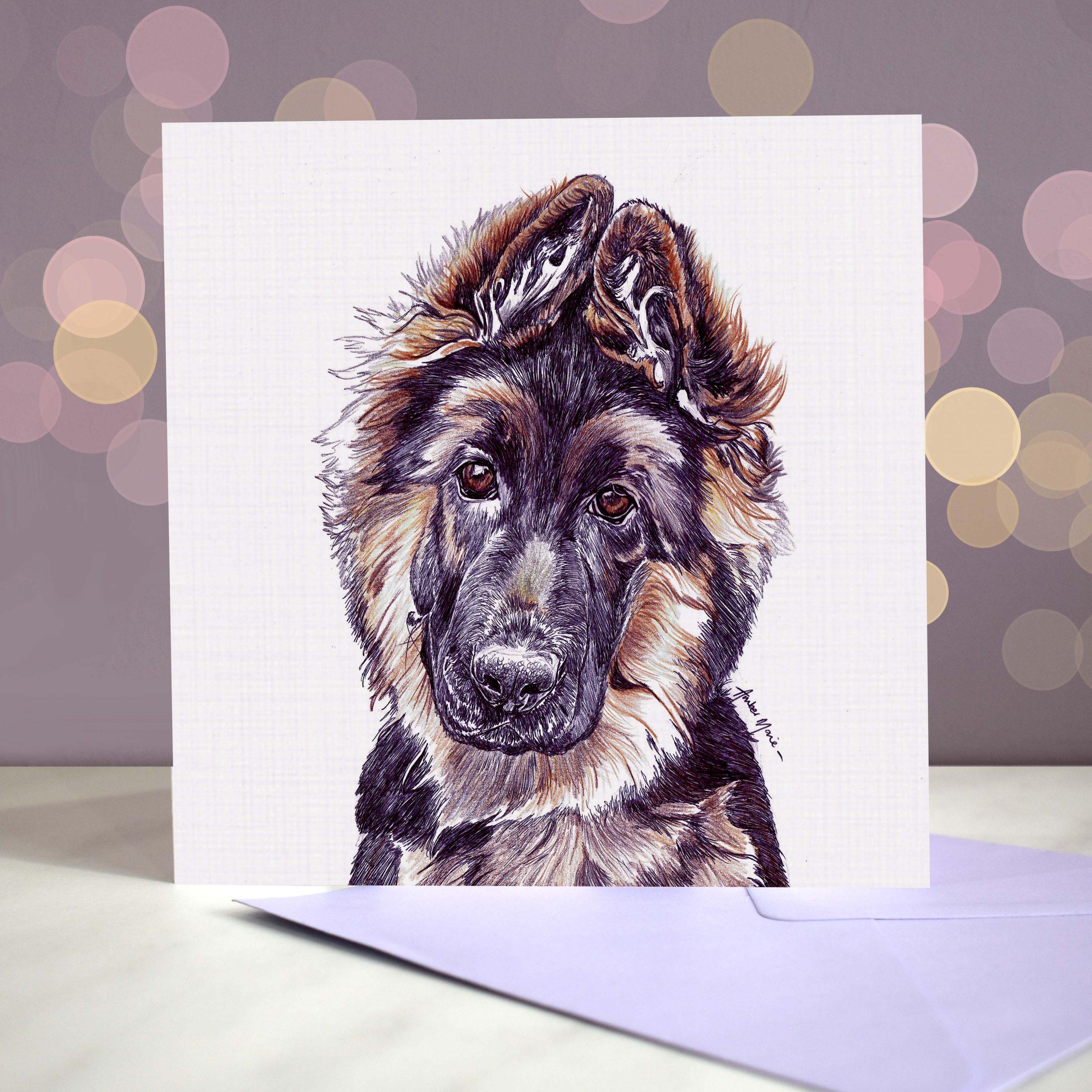 Bokeh Background 6×6 German Shepherd