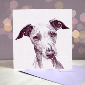 Italian Greyhound Greeting Card – Blank Inside