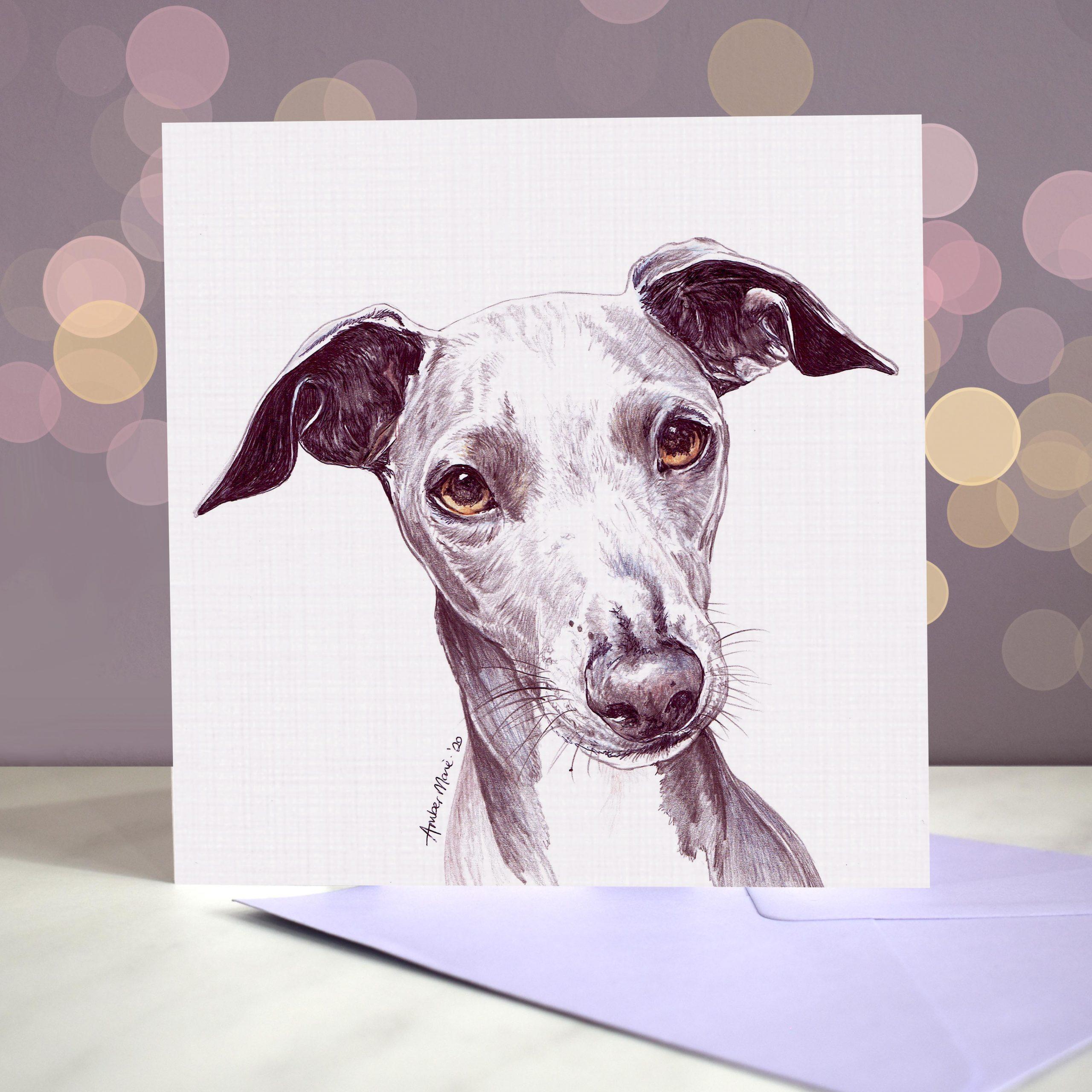 Bokeh Background 6×6 Italian Greyhound Iggy
