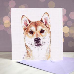 Shiba Inu – Greeting Card