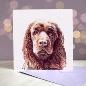 Sussex Spaniel – Greeting Card