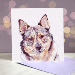 Swedish Vallhund Greeting Card – Blank Inside