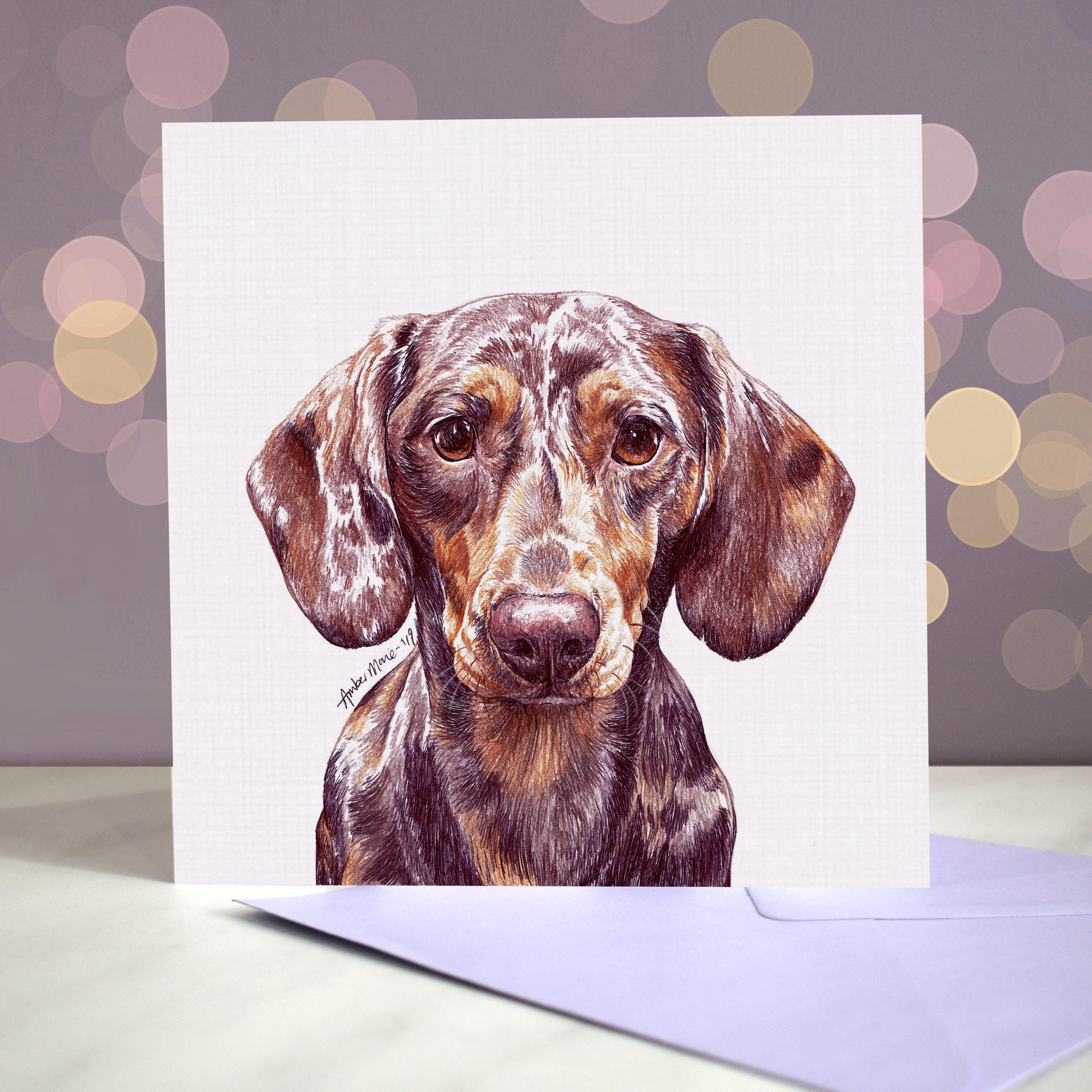 Bokeh Background 6×6 dachshund dapple