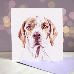 English Pointer – Greeting Card