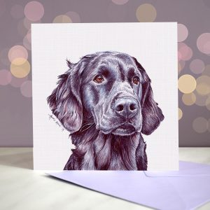 Flat Coated Retriever – Greeting Card