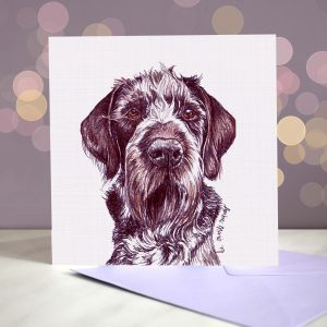 German Wirehaired Pointer – Greeting Card