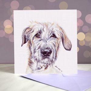 Irish Wolfhound Greeting Card – Blank Inside