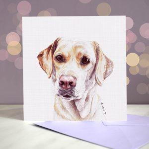 Labrador (Yellow) Greeting Card – Blank Inside