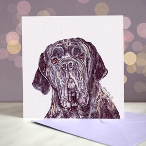 Neapolitan Mastiff – Brindle – Greeting Card