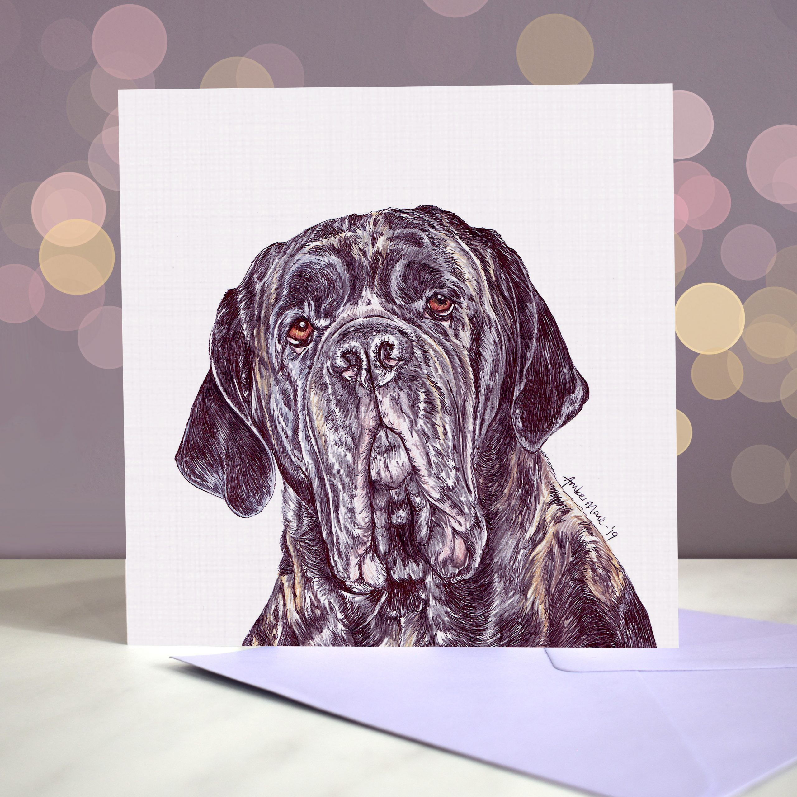 Bokeh Background 6×6 neapolitan mastiff logan