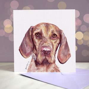 Hungarian Wirehaired Vizsla Greeting Card