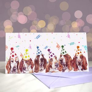 Basset Blitz Greeting Card