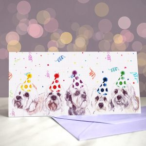 Dinmonts are a Girl's Best Friend – Greeting Card