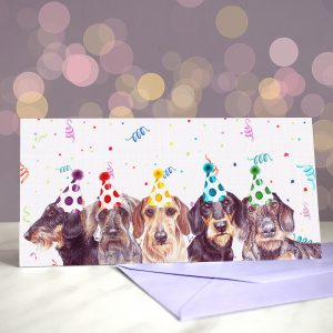 Wire You Dachshund Around? Greeting Card