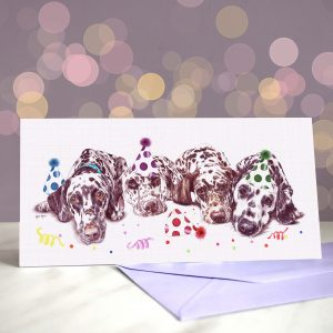 After the Dalliance – Dalmatian – Greeting Card