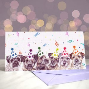 Border Blowout – Greeting Card