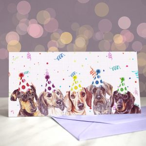 Dachshund Disco Greeting Card