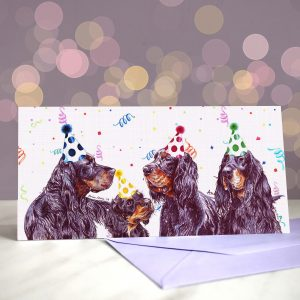 Gordon Bennett! – Greeting Card of Gordon Setters