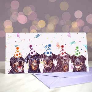 Rottie Rumble Greeting Card