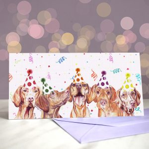 Viva Las Vizslas Greeting Card)