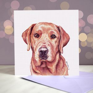 Labrador (Fox Red) Greeting Card – Blank Inside