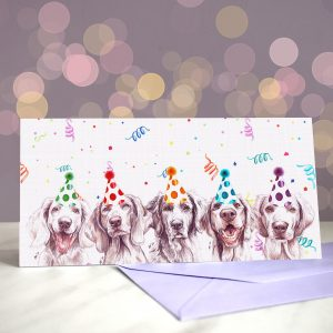 Long Weim No See Greeting Card