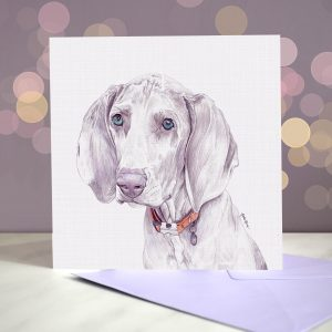 Weimaraner Greeting Card – Blank Inside