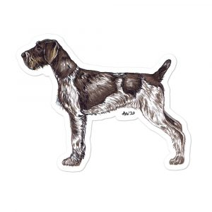 German Wirehaired Pointer – Shaped Stickers