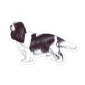 Cavalier King Charles Spaniel – Shaped Stickers