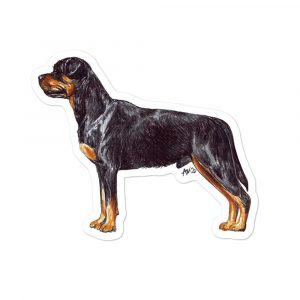 Rottweiler – Shaped Stickers