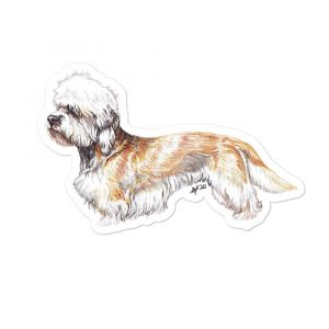 Dandie Dinmont Terrier – Shaped Stickers