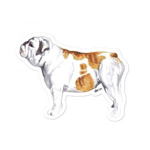 British Bulldog – Shaped Stickers